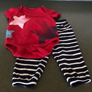 Baby Gap Stars and Stripes Outfit